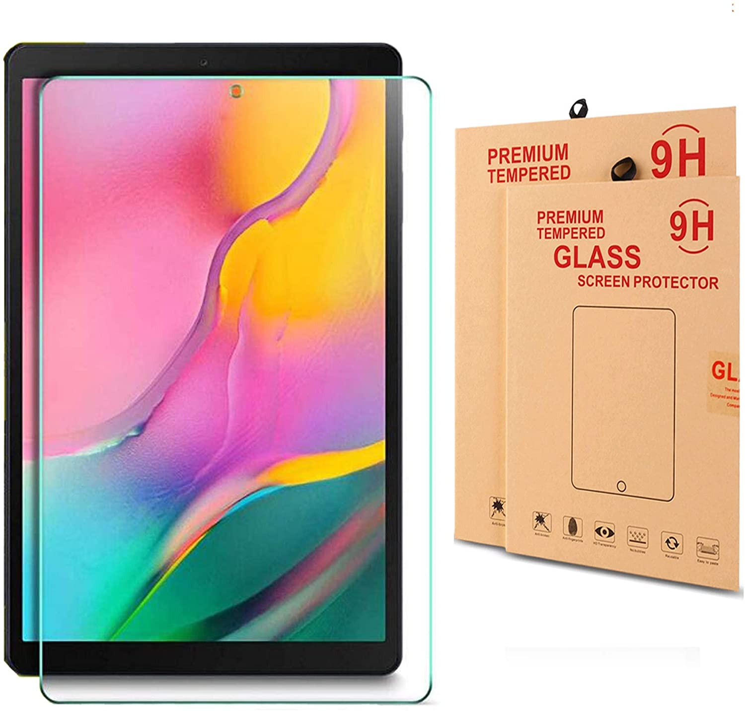 Samsung Galaxy Tab A 10.1 (2019) SM-T515/T510 Screen Protector, Nacodex 9H Tempered Glass, Premium Tempered Glass Screen Protector