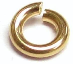 14k Gold Filled Round Open Jump Rings 3mm 4mm 5mm 6mm 8mm 18 19 22 24 Gauge Wire/Findings/Yellow Gold