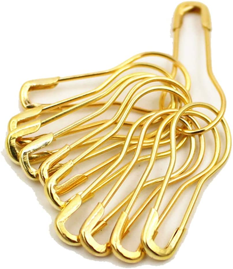 500Pcs 0.8Inch Metal Gourd Safety Pins Small Steel Wire Clothing Tag Pins Clip Buttons Clothing Trimming Fastener Tool Calabash Pins Quilting Sewing Pin for DIY Craft Home Accessories (Gold)