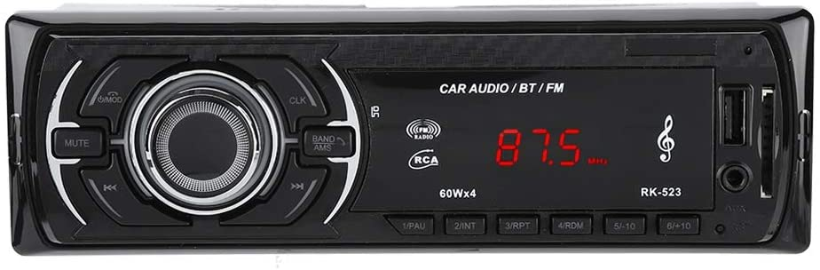 Liukouu Stereo Music Player, Bluetooth FM MP3 Player, MP3 Player, SD Card with Remote Control, for car,