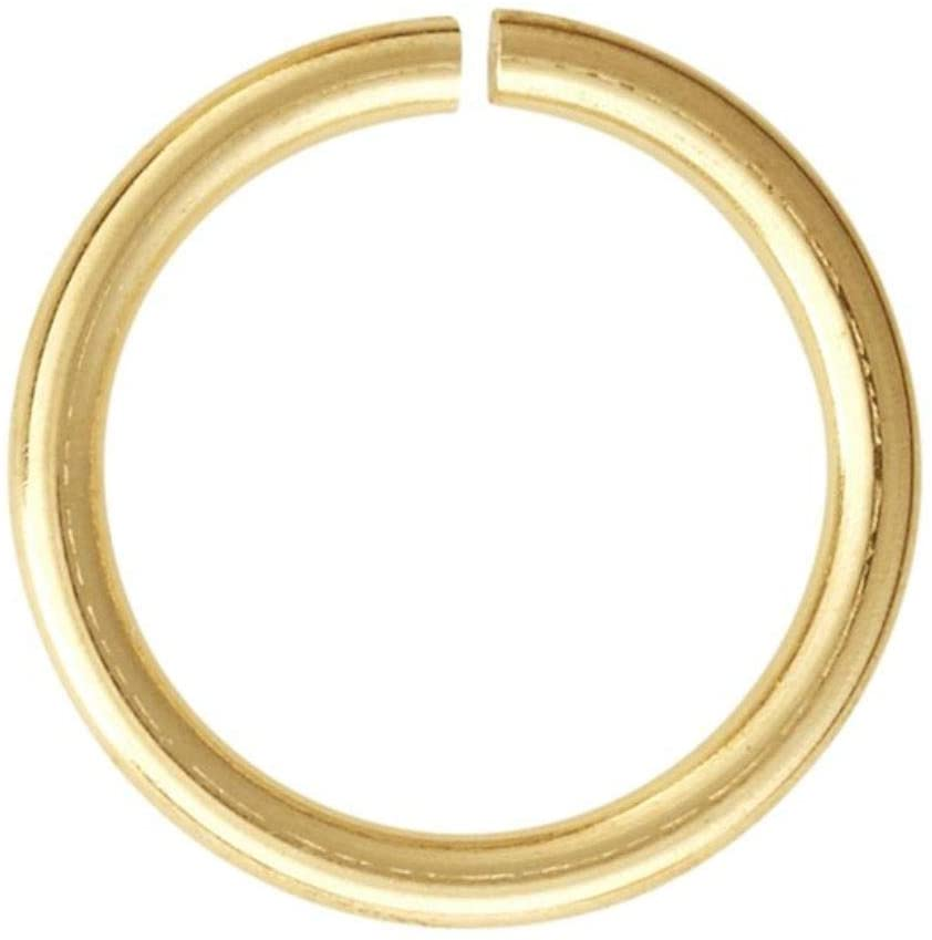 20pcs Gold Plated 925 Sterling Silver Open Jump Rings 6mm (0.24 inch) Connector (Strong Wire 1mm or 18 Gauge) for Jewelry Craft Making SS81-6