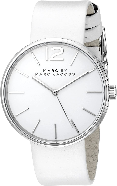 Marc by Marc Jacobs Women's MBM1361 Analog Display Analog Quartz White Watch