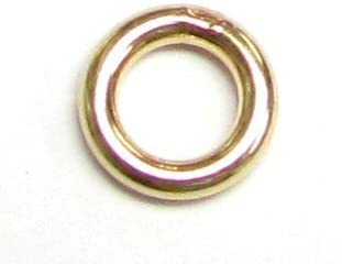 14k Gold Filled / 925 Sterling Silver Round Closed Soldered Jump Rings 4mm 5mm 6mm 7mm 22ga 18 gauge Wire Connector/Findings