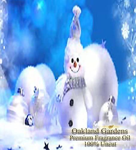 WHITE CHRISTMAS Fragrance Oil - 100% Premium Grade Uncut Oil - A perfect White Christmas outdoor with Sugared Plum, Pine, Fir needles, Cedarwood and Eucalyptus - BULK Fragrance Oil By Oakland Gardens (030 mL - 1.0 fl oz Bottle)