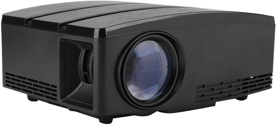 1080P HD Home Projector, Portable 3D LED 1800Lm Video Projector, 30,000Hours LED Light, Support VGA/AV/Audio/HDMI/USB, Suppor 32 Country Languages Home Theater Projector(US)