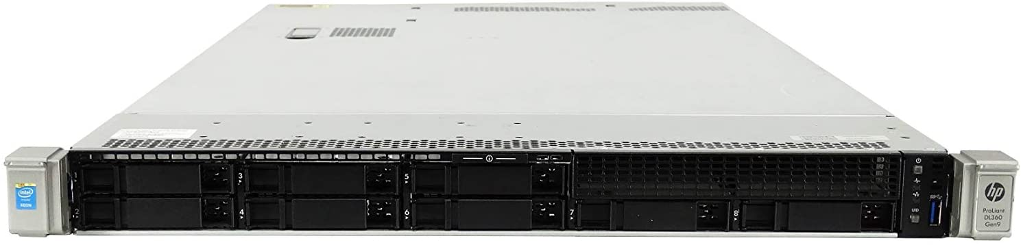 Premium HP ProLiant DL360 G9 Gen 9 8 Bay SFF 1U Server, 2X Xeon E5-2670 V3 2.3GHz 12 Core, 48GB DDR4 RAM, P440ar, 4X 146GB 15K SAS 2.5 Drives, 2X 800W PSUs, Rails (Renewed)