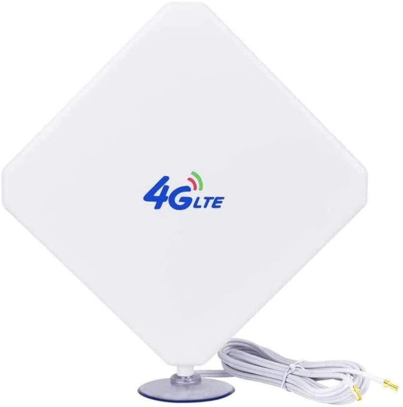 4G Antenna TS9 LTE Antenna 35dBi High Gain Long Range Network Antenna with Suction Cup and 10ft Extension Cable for 4G WiFi Router Mobile Hotspot Outdoor Signal Booster TS9 Male Connector