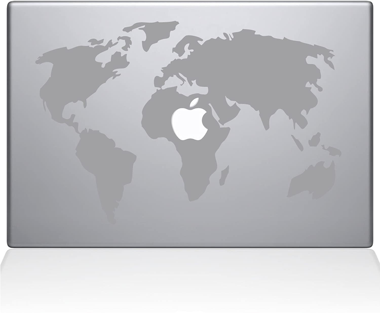 The Decal Guru World Map MacBook Decal Vinyl Sticker - 11