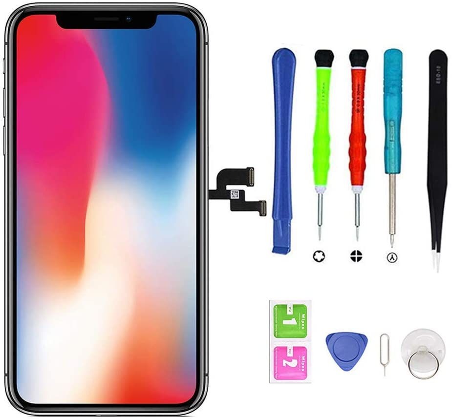 YOXINTA for iPhone X Screen Replacement Display Touch Screen Digitizer Assembly with Repair Tools (5.8 inch)