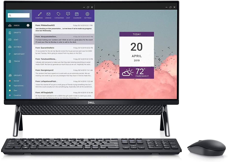 Dell Inspiron 27 7790 All in One 512GB SSD Extreme (Intel 10th Gen Quad Core Processor Turbo Boost to 4.20GHz, 16 GB RAM, 512 GB SSD, 27