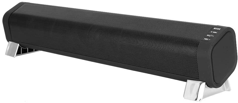 M ugast FM Wireless Soundbar, Portable Bluetooth 5.0 Bass Stereo Surround Sound Subwoofer Speaker with Plug-in Card Radio Function and Adjustable Antenna