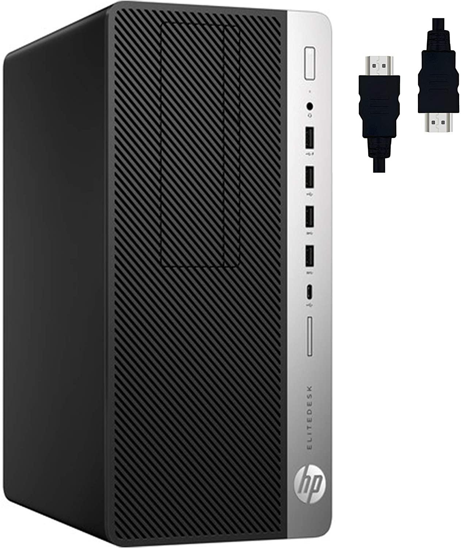 HP EliteDesk 705 G4 Microtower 2020 Premium Business Desktop I AMD 4-core APU A10-9700 (>i3-7020U) I 16GB DDR4 256GB SSD 500G HDD I AMD Radeon R7 Graphic USB-C DisplayPort Win10 Pro + Delca HDMI Cable