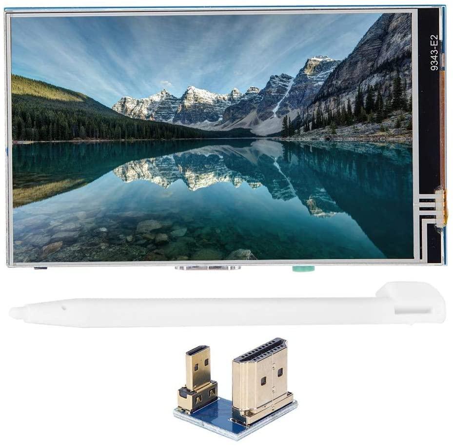 4-Inch Raspberry Pi Touch Screen, 800 x 480 HDMI Display TFT Touch Screen IPS HD for Raspberry Pi 3B+/4B, HDMI Display Screen