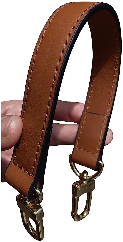 AlexCarve Leather Bag Strap, Gold Clasps Shoulder Crossbody Top Handle, Vachetta Patina for NeoNoe MM, Handbag Purse Hardware Real Genuine