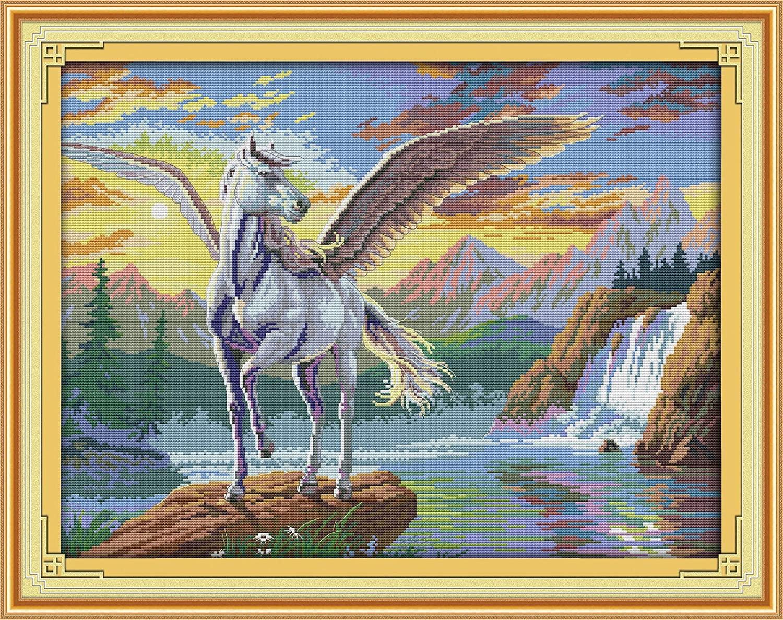 Joy Sunday Cross Stitch Kits 14CT Stamped Pegasus 21.2