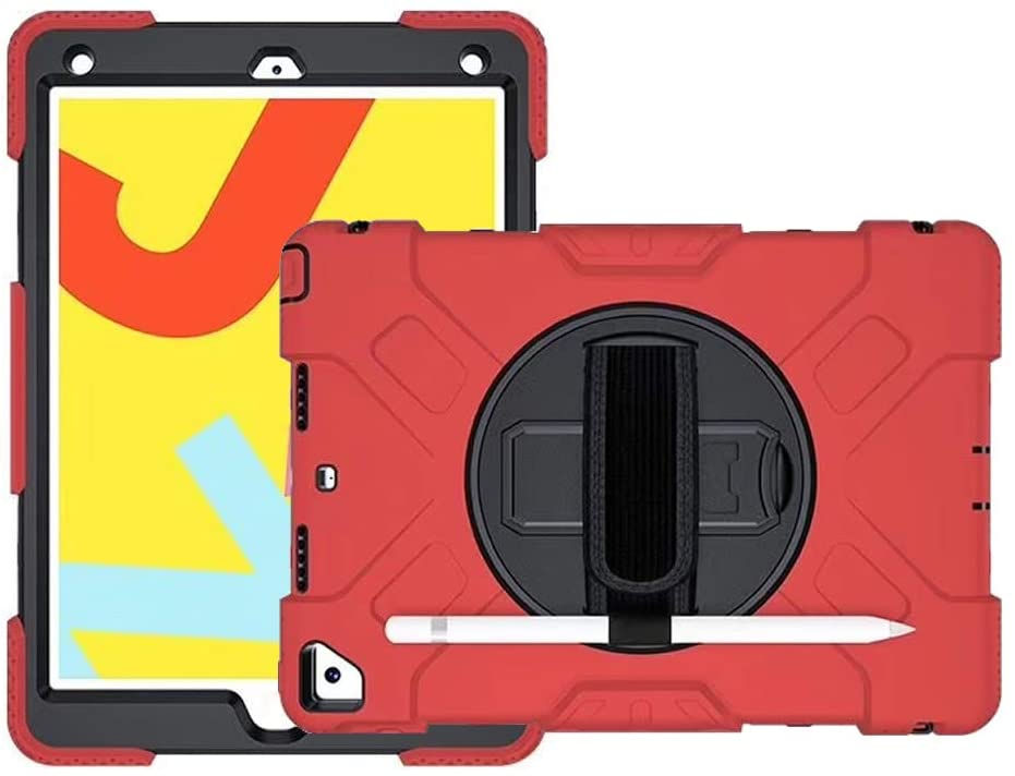 CaseOps Rugged iPad Multipurpose Case with Rotating Handle (Red)