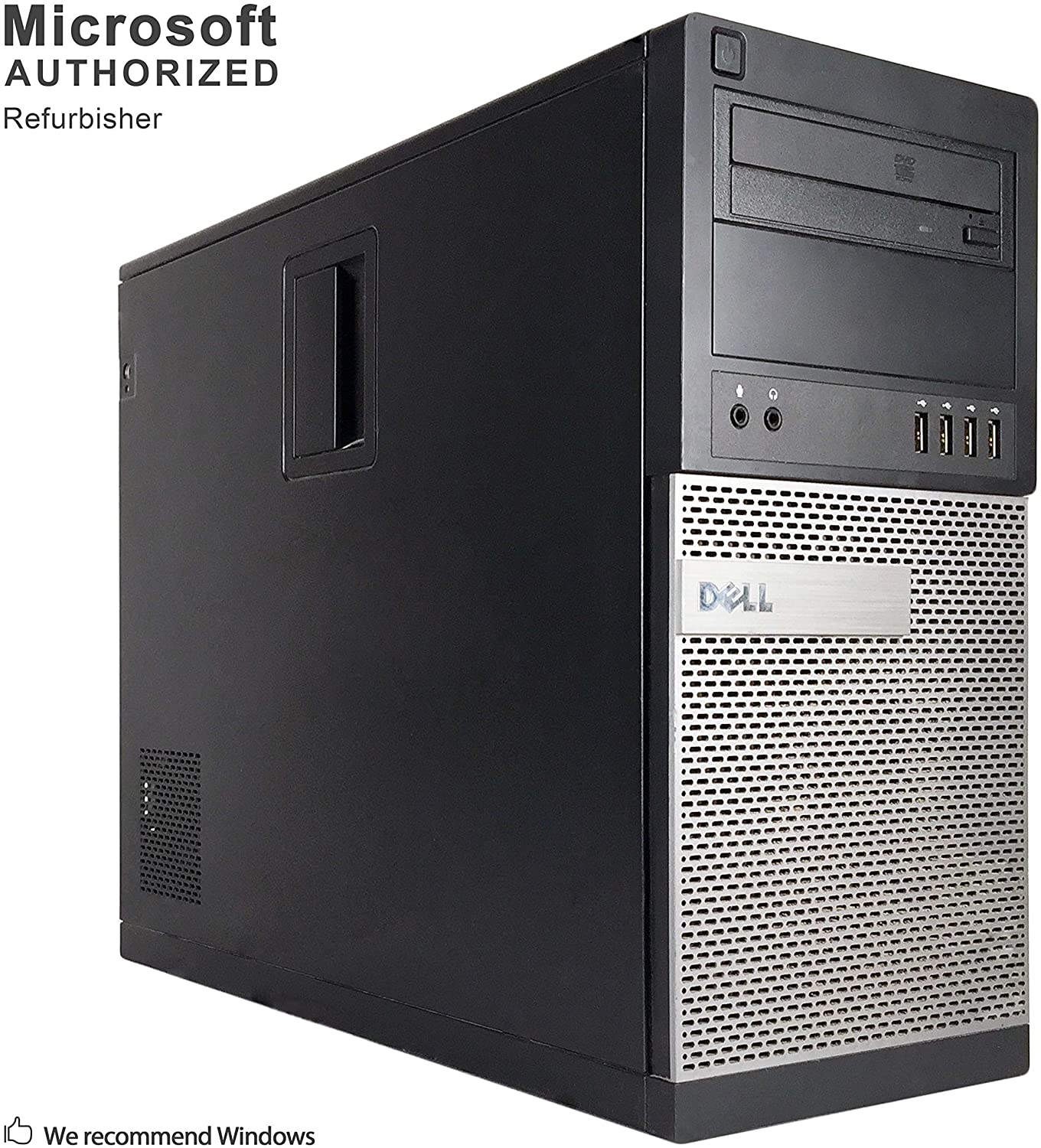 Dell Optiplex 990 Tower High Business Desktop Computer (Intel Quad-Core i5-2400 3.1GHz, 8GB DDR3 Memory, 2TB HDD, DVDRW, Windows 10 Professional) (Renewed)