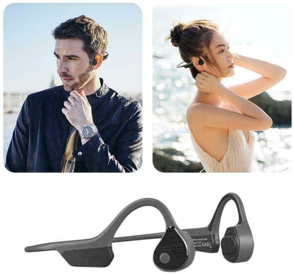 Bone Conduction Headphones, Bone Conduction Headphones Bluetooth 5.0 Wireless Headset Earphones Sport
