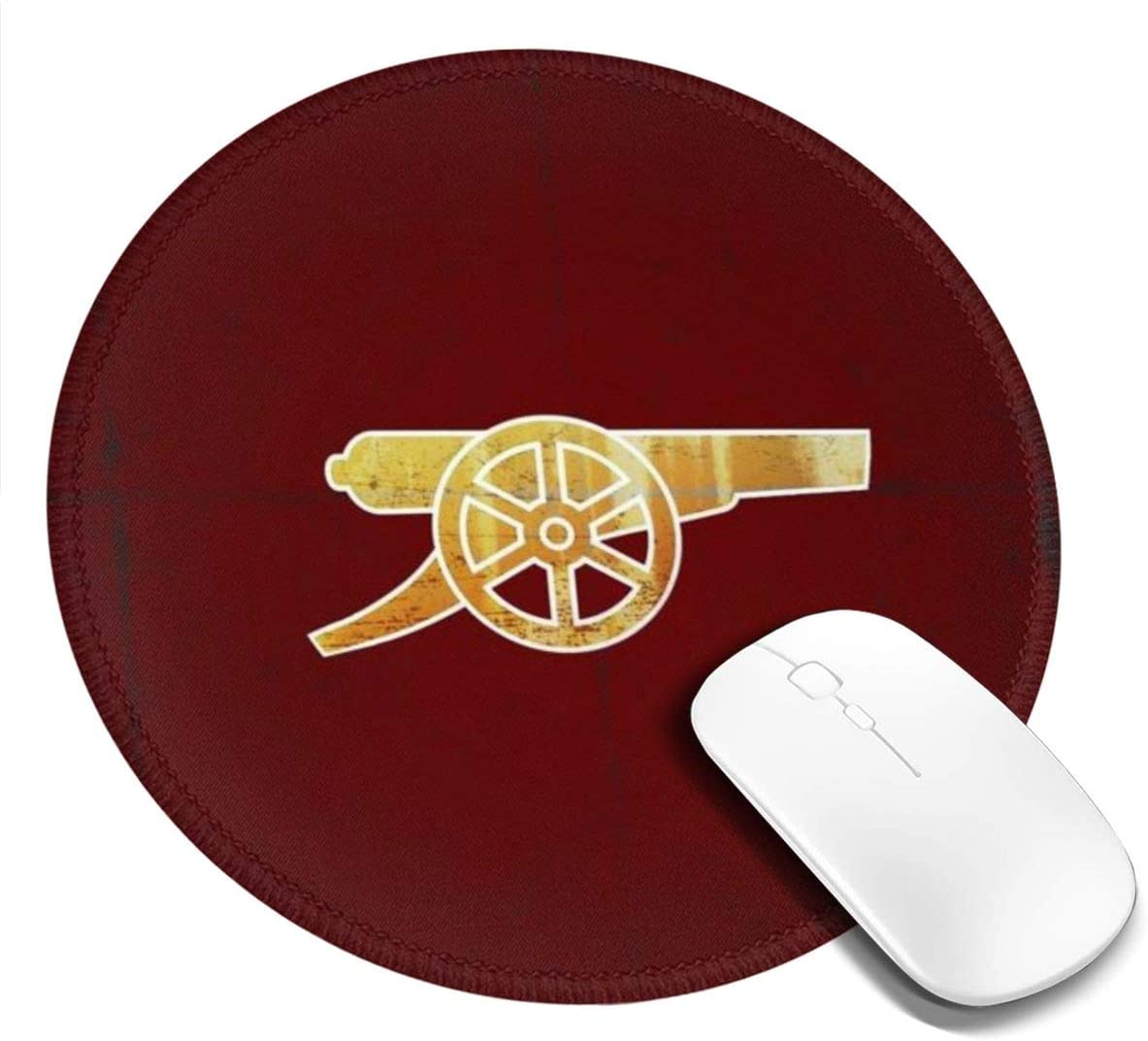 Round Mouse Pad Anti Slip Rubber Mousepads Desktop Notebook The Gunners Computer Mouse Mat for Office Home Working and Gaming 7.9 x 7.9 x 0.1 Inch