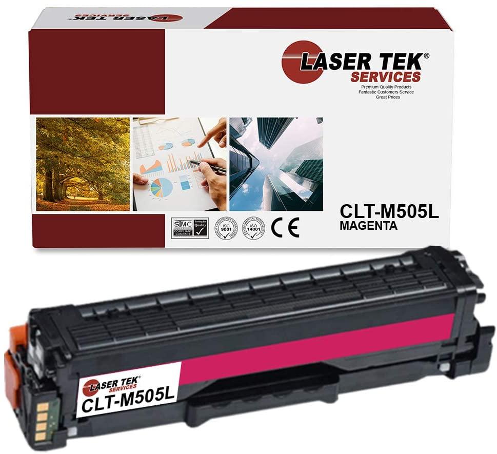 Laser Tek Services Compatible Samsung CLT505L CLT-M505L High Yield Toner Cartridge Replacement for Samsung ProXpress C2620DW C2670FW Printers (Magenta, 1 Pack) - 3,500 Pages