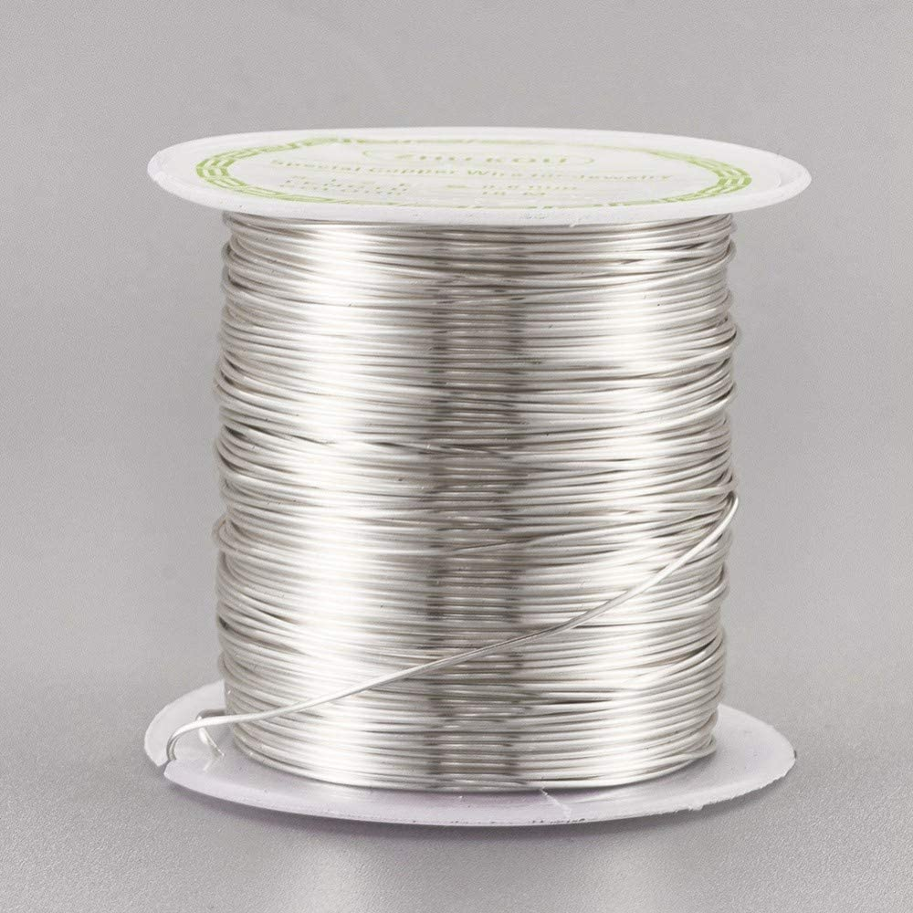 Airssory 22-Guage Copper Metal Wire Copper Metal Beading Wire Long-Lasting Plated for Wrapping Twist Ties DIY Craft Jewelry Making - 59-Feet/20-Yard