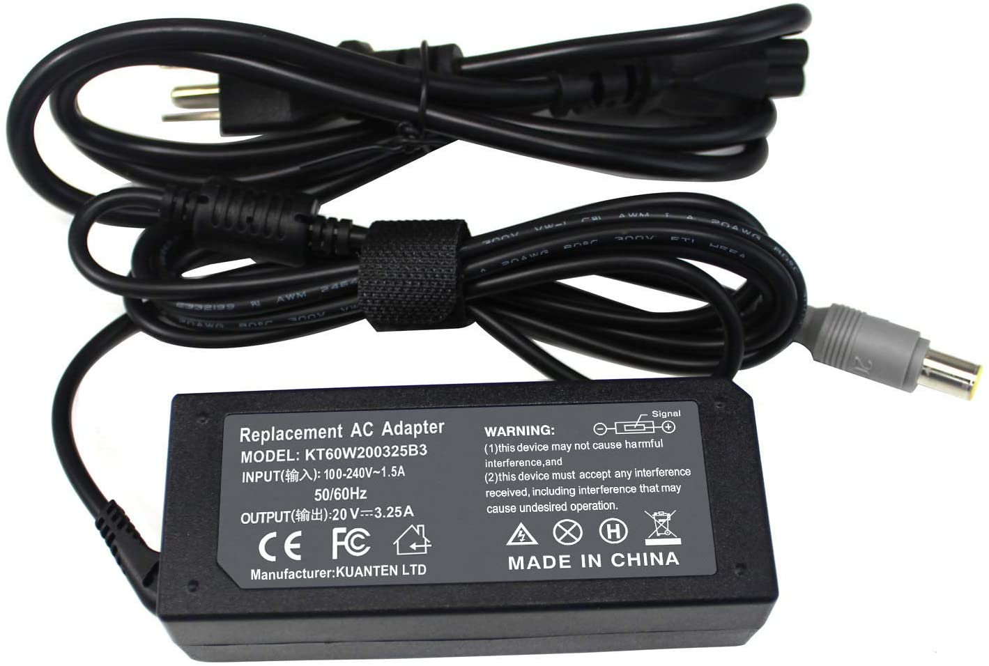 Gomaty 65W AC Adapter Charger for Lenovo Thinkpad Edge 15 E40 E420 E430 E520 E525 E530 E535 E545 S230U SL500 SL510 X120e X130e X131e X140E X200 X201 X220 X230 X230t X300 X60
