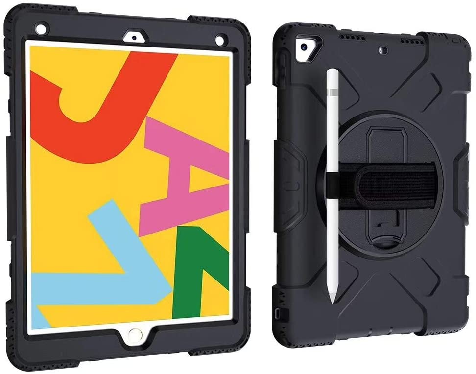 CaseOps Rugged iPad Multipurpose Case with Rotating Handle (Black)