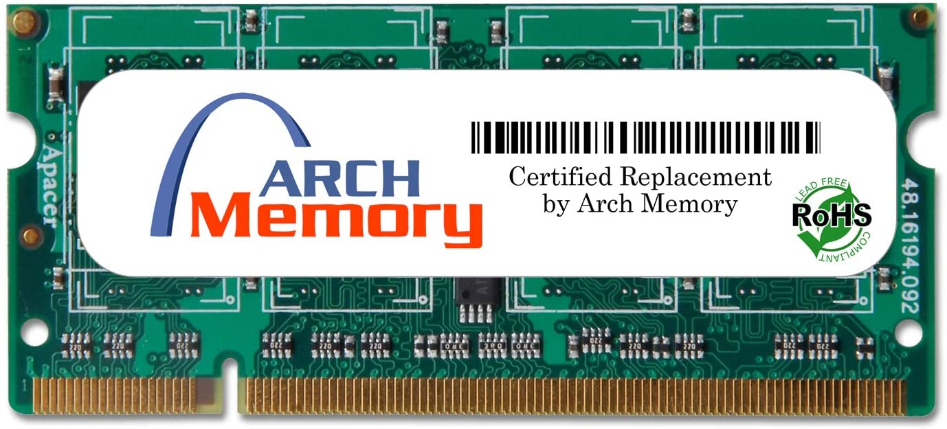 Arch Memory 2 GB 200-Pin DDR2 So-dimm RAM Replacement for KTH-X36S/2G Anti-Static Gloves Included