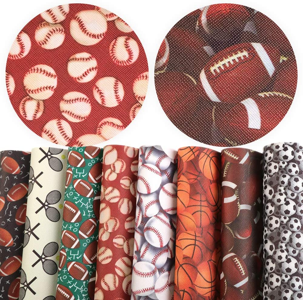 David accessories Ball Basketball Football Baseball Printed Leather Fabric Canvas Back 8 pcs 8