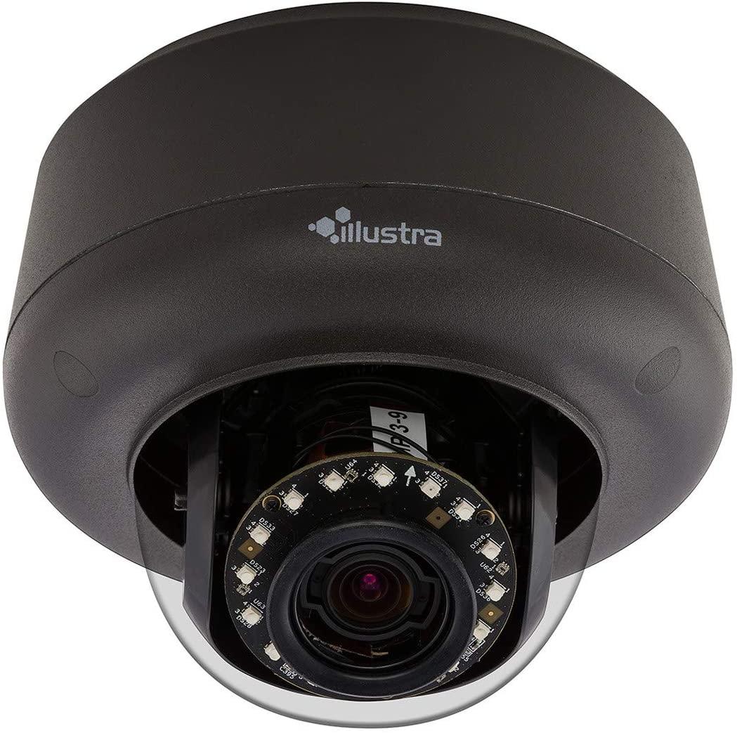 AMERICAN DYNAMICS IPS03D3ICBIT IP Camera, Mini-Dome, True Day/Night, TWDR, IR, Indoor, Vandalproof, H.264/MJPEG, 9 to 22 MM Varifocal Lens, 3 Megapixel, 24 Volt AC, Clear, Black, PoE