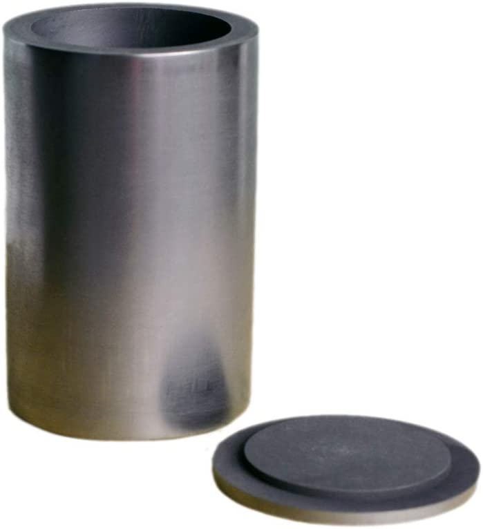 Gold Silver Copper Smelting Graphite Crucible Cup with Lid Lab Supply (65X100MM)