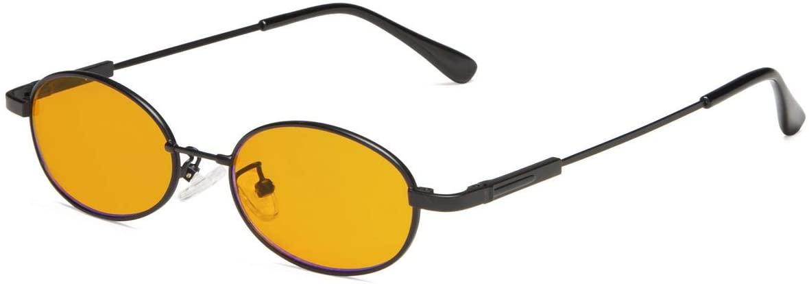 Eyekepper Anti Blue Light Glasses for Kids with 3-8 Years Computer Eyeglasses Oval Memory Frame (Black)