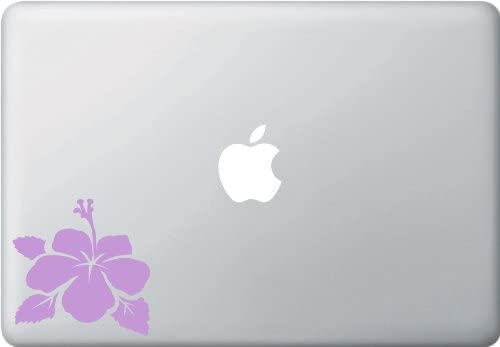 Hibiscus Flower - Design 2 - Laptop Vinyl Decal - Copyright Yadda-Yadda Design Co. (3.5