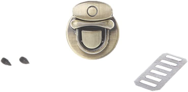 XISAOK Metal Round Shape Clasp Turn Lock Twist Lock Accessories Buckle for DIY Handbag Bag Purse Hardware