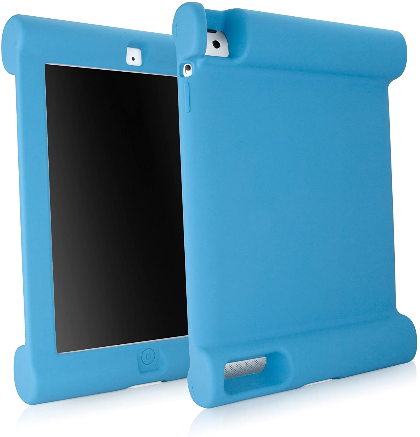 iPad 2 Case, BoxWave [Kid Grip Case] Shock Proof Kid Cover with Extra Large Bumpers for Apple iPad 2, 4, 3 - Sky Blue