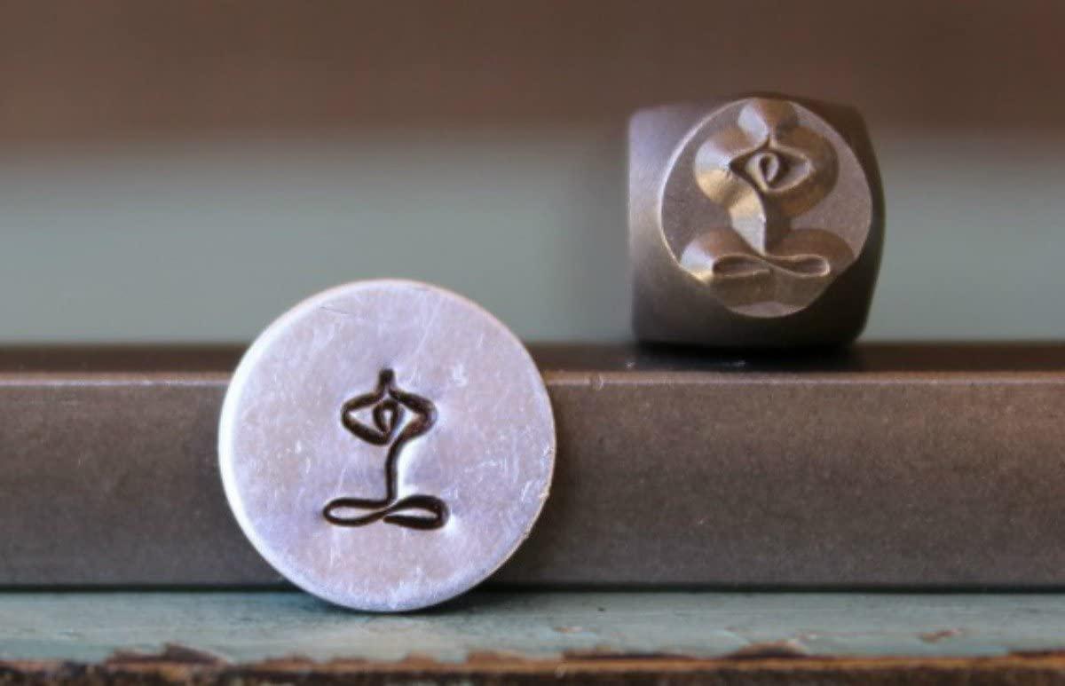 Brand New Supply Guy 6mm Yoga Symbol Metal Punch Design Stamp CH-91