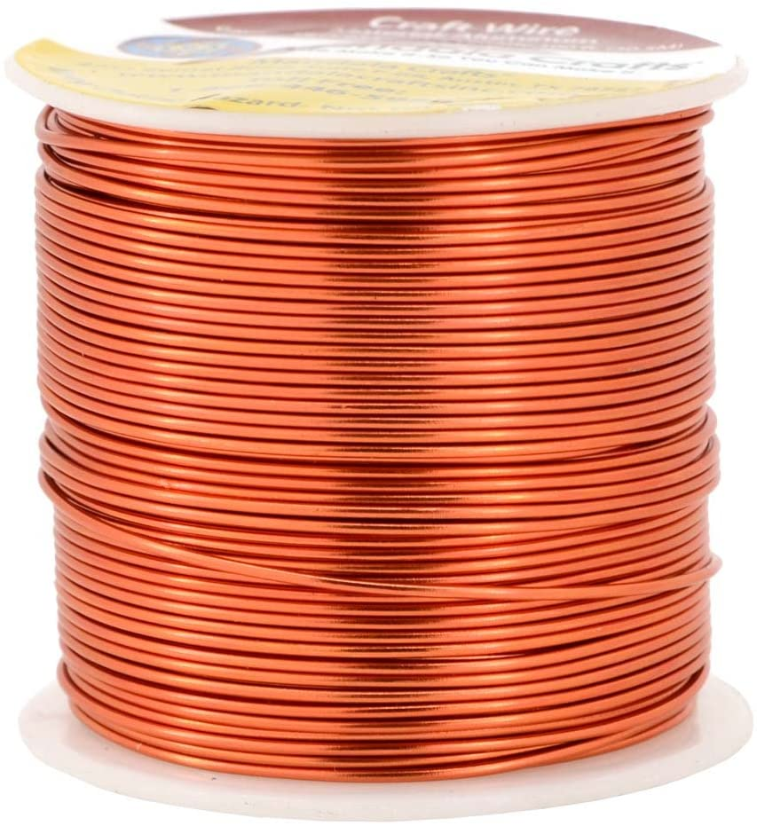Mandala Crafts Anodized Aluminum Wire for Sculpting, Armature, Jewelry Making, Gem Metal Wrap, Garden, Colored and Soft, 1 Roll(18 Gauge, Burnt Orange)