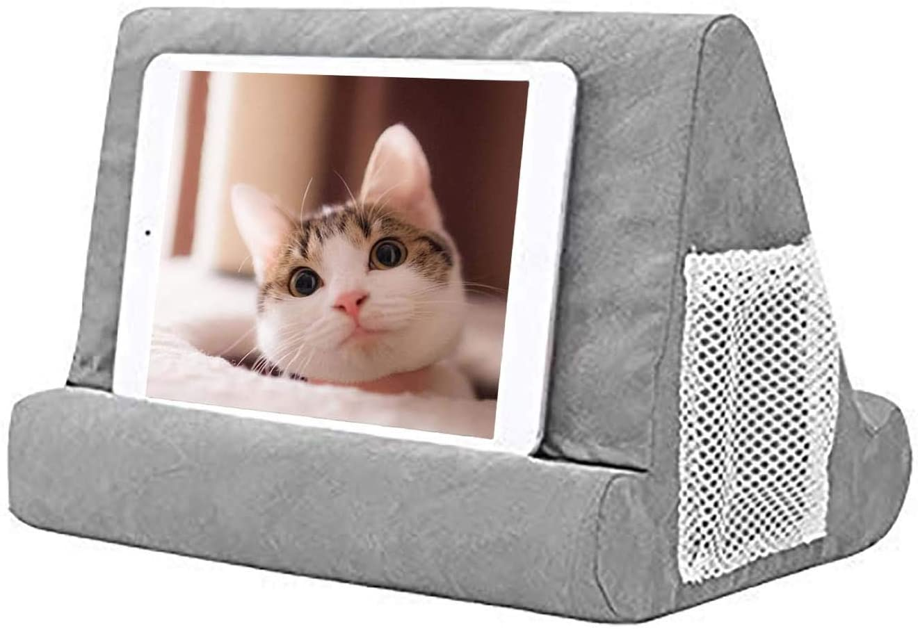 Tablet Stand Pillow Multi-Angle Soft Pillow Ipad Phone Pillow Lap Stand for Various Models of Tablets or Mobile Phones