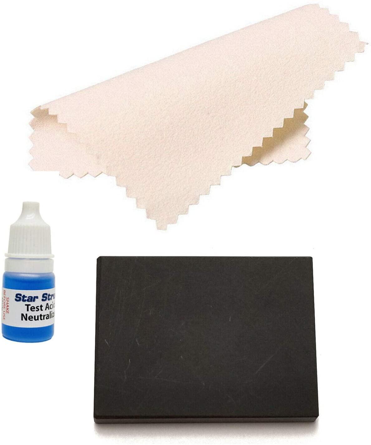 Gold Testing Kit Small Gold Testing Solution Stone w/Neutralizer & Polishing Cloth