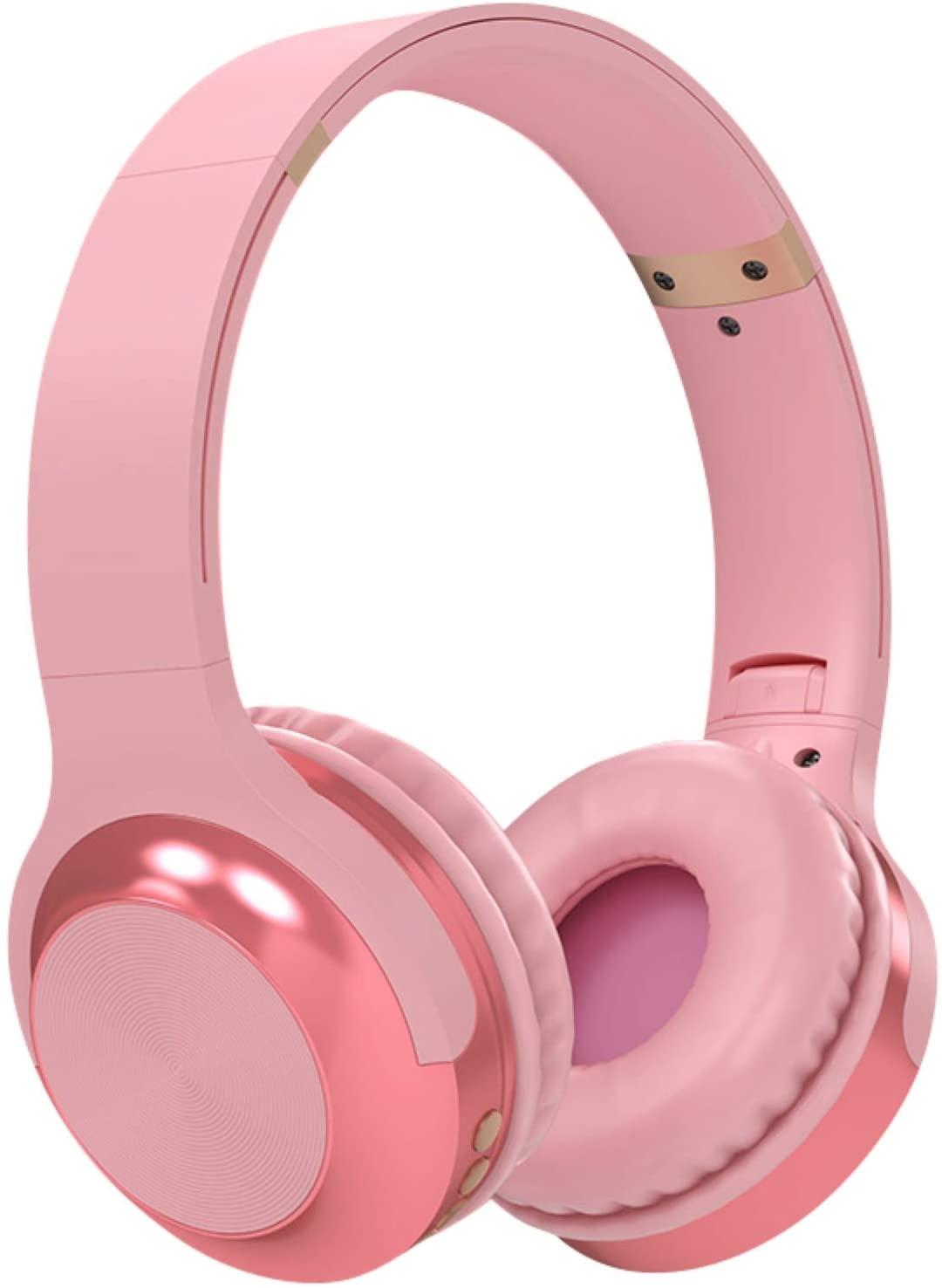 MOHALIKO Bluetooth Headphones, Wireless Headphones, A10 Head-Mounted Bluetooth Headset Stereo Wireless Card Radio Universal Earphone for School Home or Travel Pink