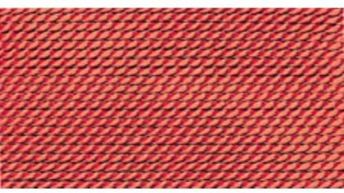 100% Silk Beading Thread, Coral, Size 1, 10 Pack | BDC-234.01