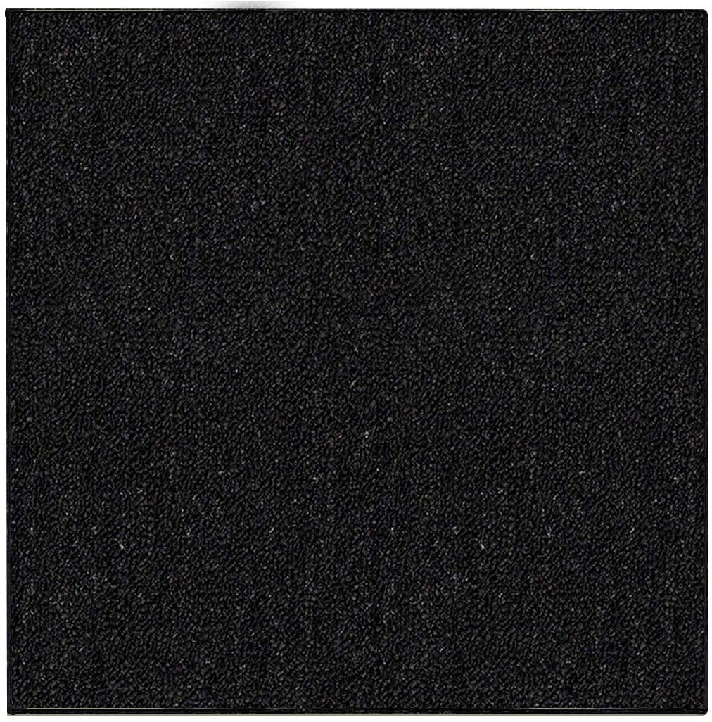 Ambiant Indoor Outdoor Area Rugs, Black - 7' Square