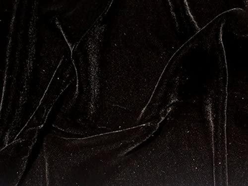 SyFabrics silk velvet fabric 54 inches wide Black