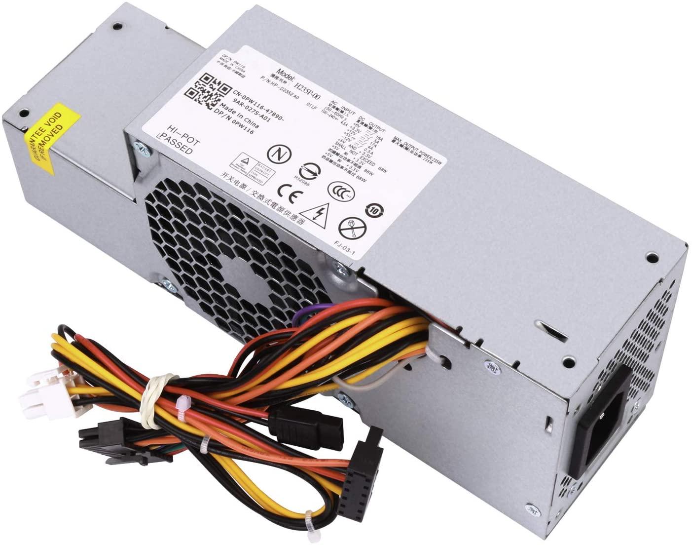 LXun 235W Power Supply Replacement for Dell OptiPlex 580 760 780 960 980 990 SFF Systems (P/N: PW116 FR610 RM112 67T67 R224M WU136, M/N: H235P-00 L235P-01 L235P-00 H235E-00 F235E-00 L235ES-00)