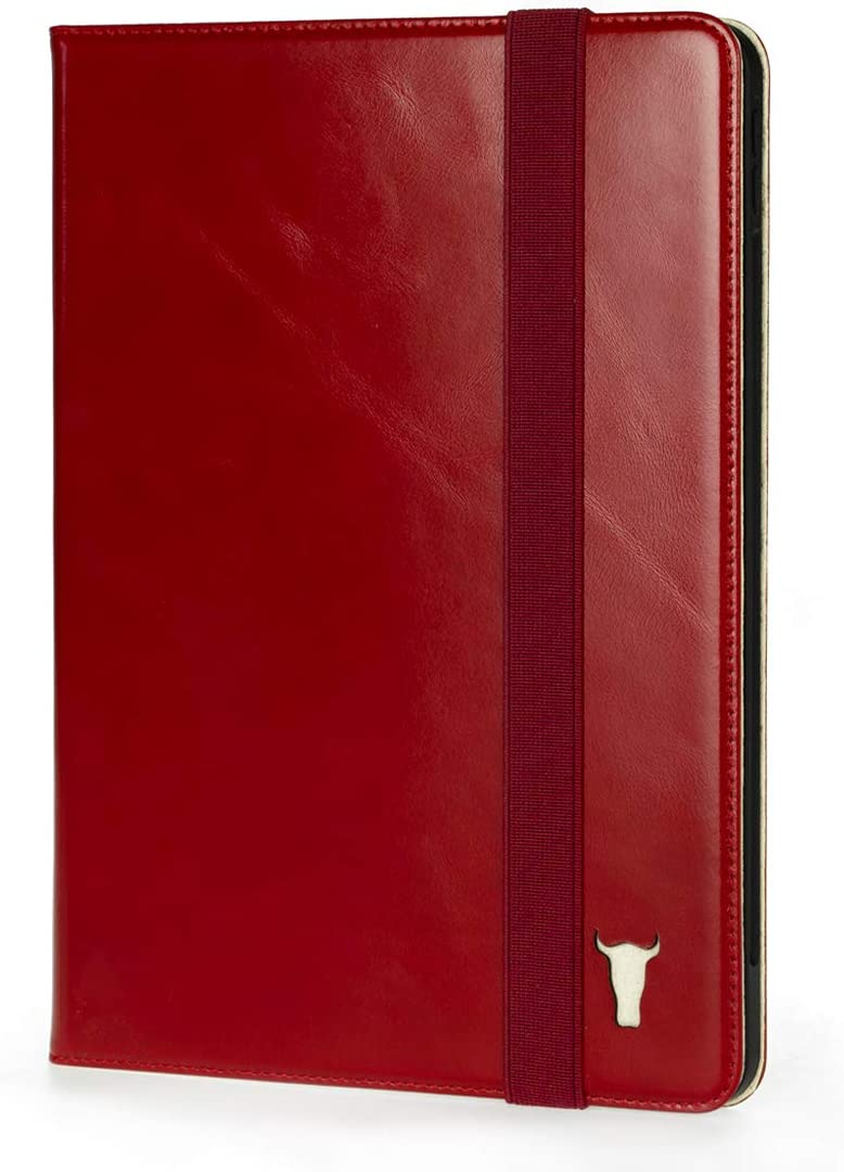 "TORRO Genuine Leather Stand Case Compatible with The Apple iPad 8 10.2"" 8th Gen and 7th Gen [Multiple Viewing Angles] [Wake/Sleep Enabled] (Red)"
