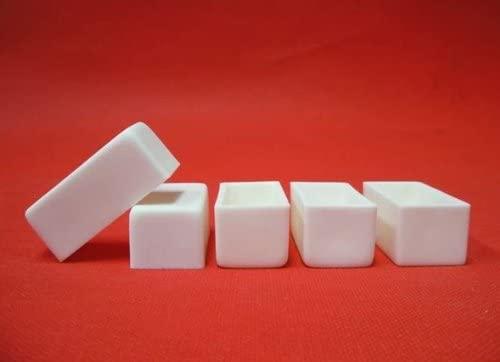 CGOLDENWALL 5 pieces Alumina Ceramic Crucible Boat Sample Holder Furnaces Dimensions: 522523mm