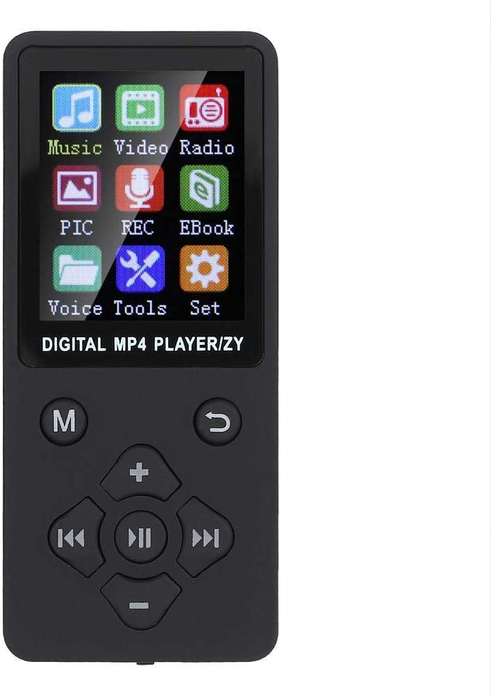 MP3 Player,1.8 Inches Small Lossless Stereo Bluetooth Music MP3/MP4 Player with 4-6 H Playtime,Support Radio/Recording/Video/E-Book,32G Memory Card,for Kids/Girls/Boys(Black)