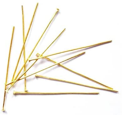 Wholesale Iron Head Pins Golden Flat 0.7 x 35mm 3 Packs of 250+