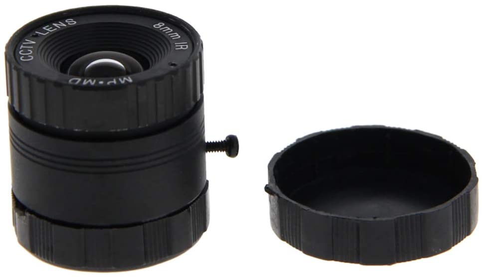 Fielect Fixed Board Lens Standard Zoom Board Lens 8mm Focal 720P Pixel F1.4 Aperture 1Pcs