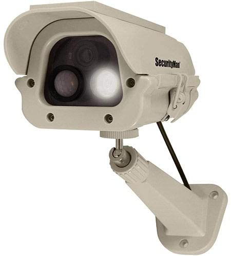 Solar Powered Spotlight Dummy Camera with PIR Body Heat Motion Sensor - DUMCAM-SLM (DUMCAM-SLM)